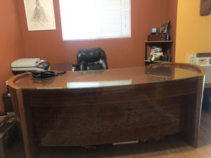 Modern Office or Home Desk with Custom Glass Top! for Sale in West Los Angeles, CA