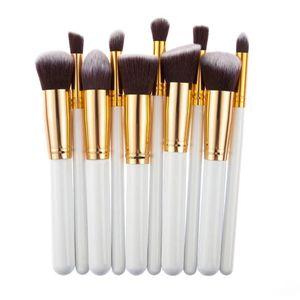 10 Pcs Silver/Golden Makeup Brushes Set pincel maquiagem Cosmetics maquillaje Makeup Tool Powder Eyeshadow Cosmetic Set for Sale in Coronado, CA