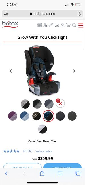 Brand new britax harness to booster grow with you clicktight car seat for Sale in Greeneville, TN