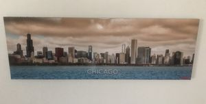 Large Chicago skyline print wall art mounted on thick foam for Sale in Tempe, AZ