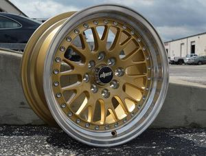 DPS L215 Wheel 15x8 Rim silver w/ machine lip gold w/ machine lip for Sale in Longwood, FL