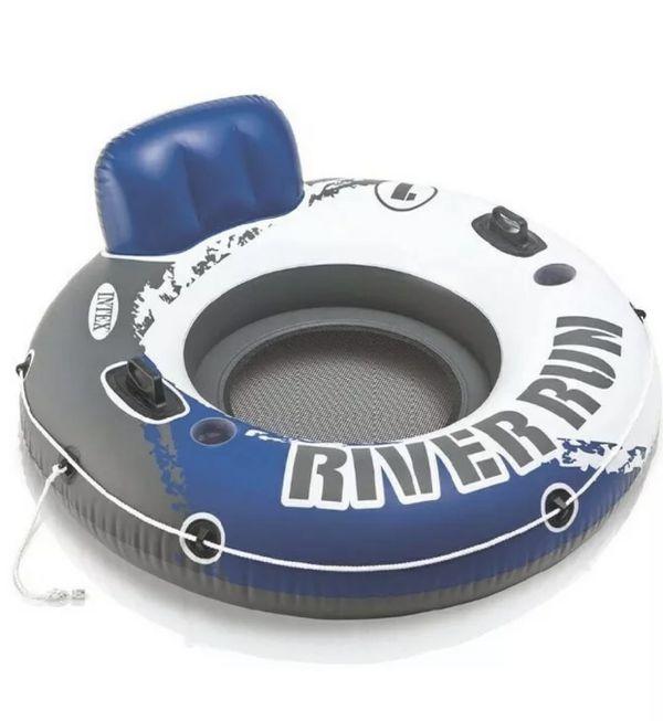 "Intex River Run I Sport Lounge Inflatable Water Float 53"" Diameter"