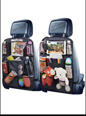 2 pack Backseat Organizer, Car Organizer Back Seat Car Organizer for Kids with USB/Headphone Slits for Sale in Lilburn, GA