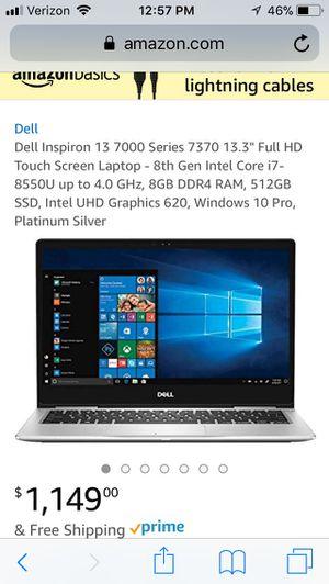 Dell Inspiron 13 7000 7370 intel core i7 8th Gen laptop computer for Sale in Scottsdale, AZ