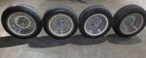 Cragar star wire rims with 235 70r15 Vogue tires for Sale in Fort Wayne, IN