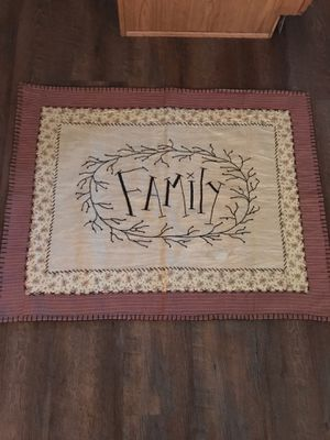 """Family Wall Hanging 29 1/2"""" H X 38"""" 1/2 W for Sale in Etna, OH"""