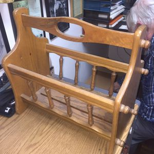 Wooden magazine/book rack for Sale in Santa Clara, CA