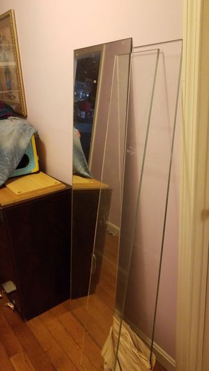 Wall mirror and glass shelves for Sale in Everett, MA
