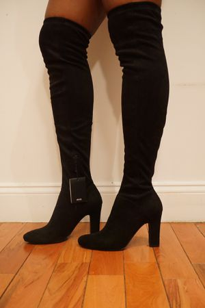 Black suede over the knee boots Mango size 9 for Sale in New York, NY