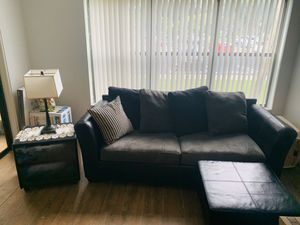 "Set sofa & tv bravía Sony 40"" +wall mounted tv stand for Sale in Pompano Beach, FL"