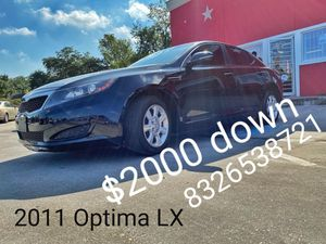 Buy here Pay here Optima LX $2k down 🤑 🤑 for Sale in Houston, TX