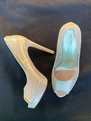"Diamond glitter fabric 5"" platform heels size 7.5 Michael Kors for Sale in Seattle, WA"