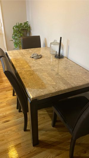 Granite Kitchen Table with 4 chairs for Sale in Denver, CO