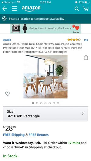 Desk Chair Mat for Sale in Bakersfield, CA