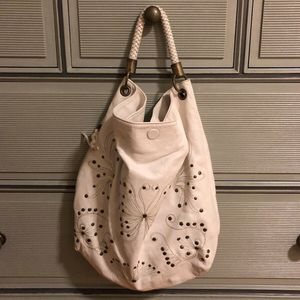 White leather studded shoulder bag for Sale in NO POTOMAC, MD