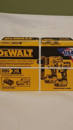 Dewalt Brushless hammer drill/ impact driver combo set. Juego de taladro e impacto. for Sale in Calexico, CA