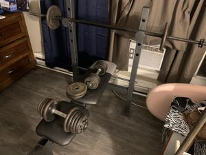 Weight bench, barbells and weights for Sale in Virginia Beach, VA