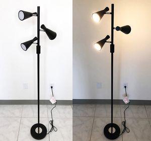 (NEW) $30 LED 3-Light Floor Lamp 5ft Tall Adjustable Tilt Light Fixtures Home Living Room Office for Sale in Whittier, CA