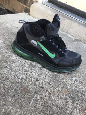 Black and green Nike air foamposite shoe for Sale in Richmond, VA