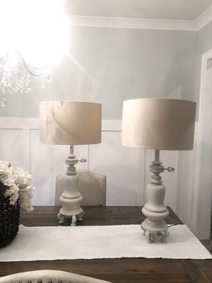 Set of 2 refinished antique Leviton lamps for Sale in Atlanta, GA
