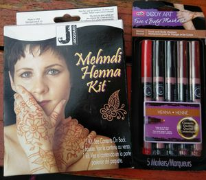 Henna body paint kit and henna pens for Sale in Vancouver, WA