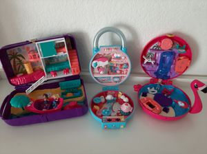 2 polly pocket and 1 Shopkin secret lock sets for Sale in San Diego, CA
