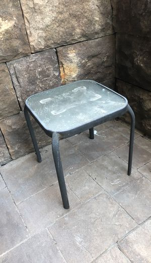 Outdoor small metal & glass drink table for Sale in San Diego, CA