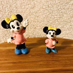 Disney's Minnie Mouse Figurines (set of 2) Disneyland 1980s for Sale in Vista, CA