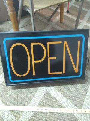 OPEN Window Sign for Sale in Nashville, TN