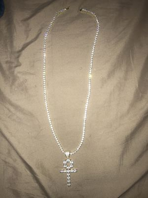 Diamond Ankh Tennis Necklace for Sale in Silver Spring, MD