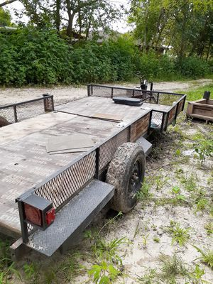 Homemade trailer for sale or trade14ft for Sale in Houston, TX