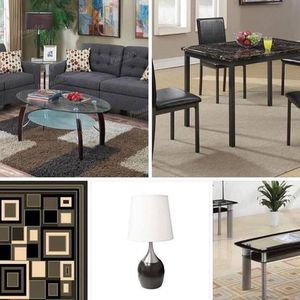 "TODAY""S SPECIAL GET THIS package deal is back. This package deal includes Sofa and Loveseat 🛋 3 piece coffee table set 5x8 Rug 5 piece dining tab for Sale in Chino, CA"