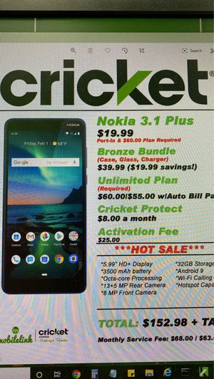 Nokia 3.1 Plus for Sale in Kingsport, TN