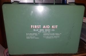 Vintage Blue Bird School Bus First Aid Kit for Sale in Carthage, MO