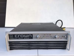 Crown macro tech 5002vz amplifier for Sale in Port St. Lucie, FL