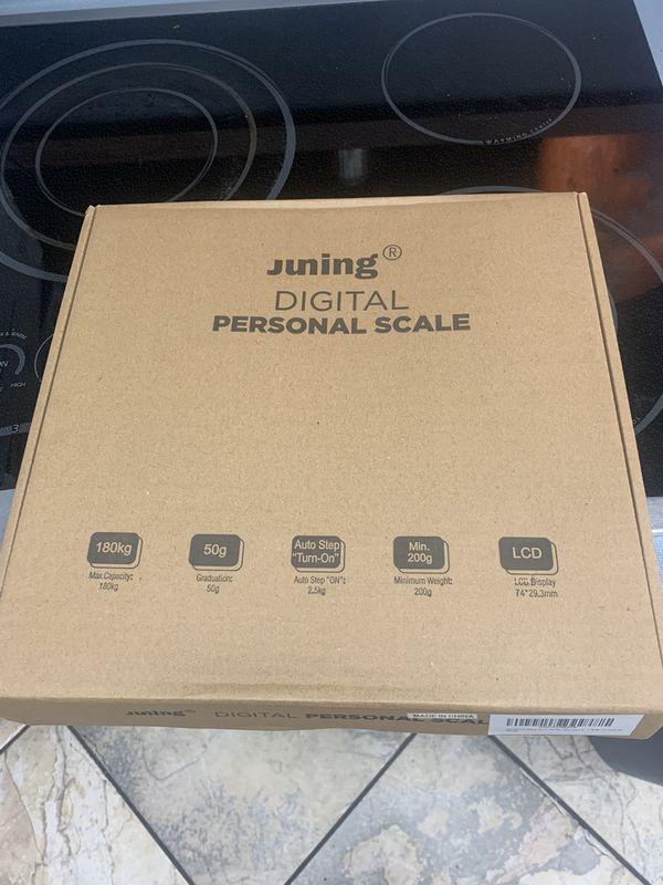 Digital Body Weight - JUNING BD-11 Precision Digital Clear Glass Bathroom Scale - 400lbs Capacity