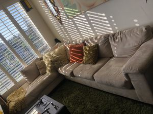 Tan sectional couch must go! for Sale in San Diego, CA