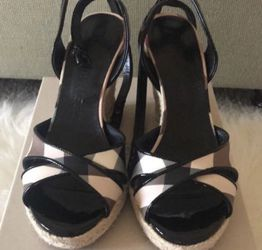 Authentic Burberry wedge sandals for Sale in Glenview,  IL