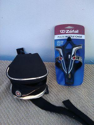 Shcwinn bicycle bag Zéfal water bottle cage bike gear for Sale in Cutler Bay, FL