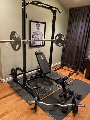 Olympic Weights , Bench, Curl Bar , Olympic and Squat Rack for Sale in Los Angeles, CA