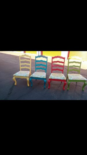 Vintage wood color chairs for Sale in Chandler, AZ