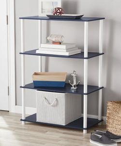 Brand New Contemporary Storage Bookshelf Organizer Display Shelf in Navy Blue for Sale in Atlanta,  GA