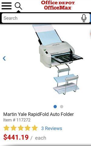 Martin Yale Rapid Fold Auto Folder for Sale in Norman, OK