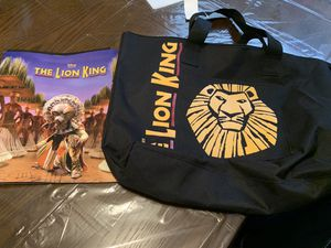 DISNEY LION KING the Musical VIP Zippered Tote Bag and Book for Sale in DeBary, FL