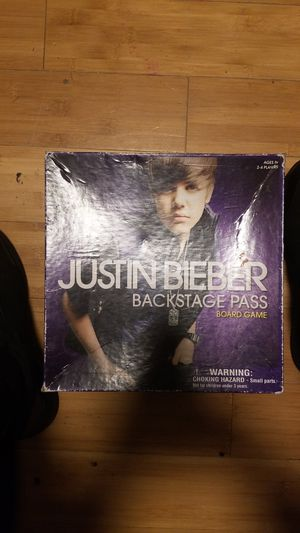 Justin Bieber Backstage Pass Board Game for Sale in Olympia, WA