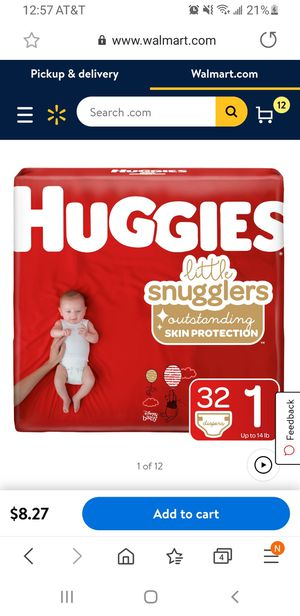 HUGGIES LITTLE SNUGGLERS SIZE 1 32 COUNT (PACK OF 4) $28 for Sale in Portland, OR