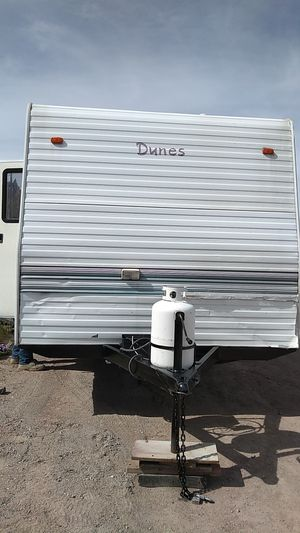 Dune trailer toy hauler bathroom fridge shower stove shower for Sale in Sun Valley, NV