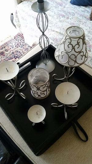 Stylish metal candle set holders decor. for Sale in Alexandria, VA