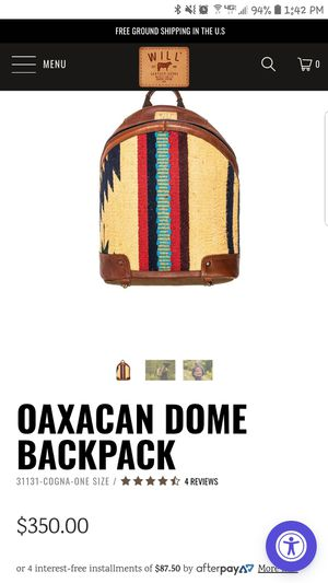 Will leather goods backpack for Sale in Portland, OR