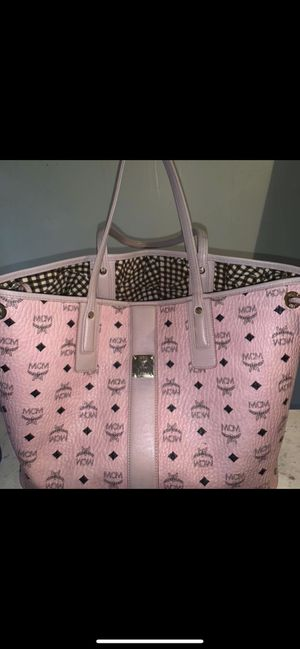 Large Pink MCM tote for Sale in Detroit, MI